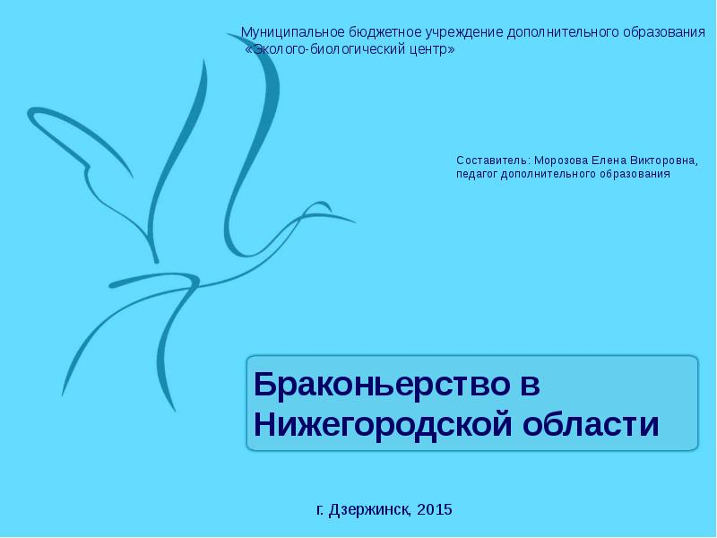 Презентация Браконьерство в Нижегородской области