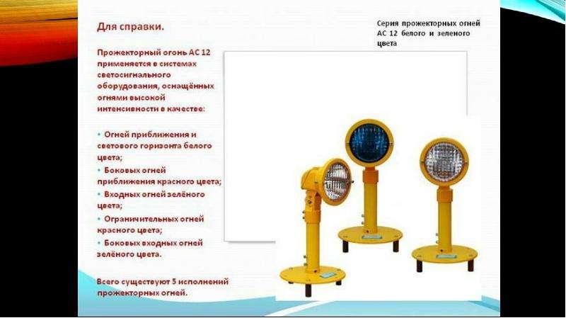 Особенности современных историков света светосигнального оборудования, слайд 21