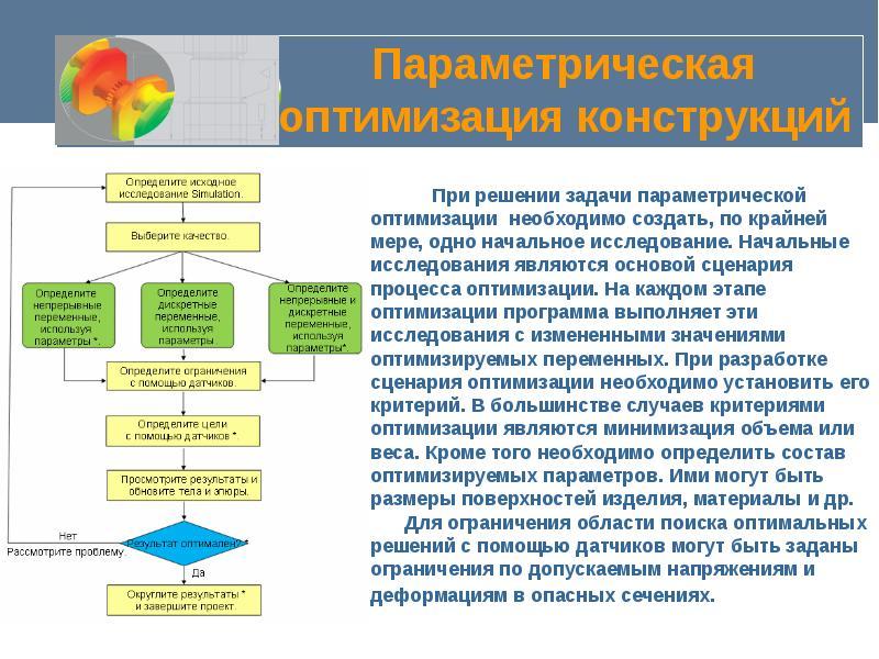 Параметрическая оптимизация конструкций