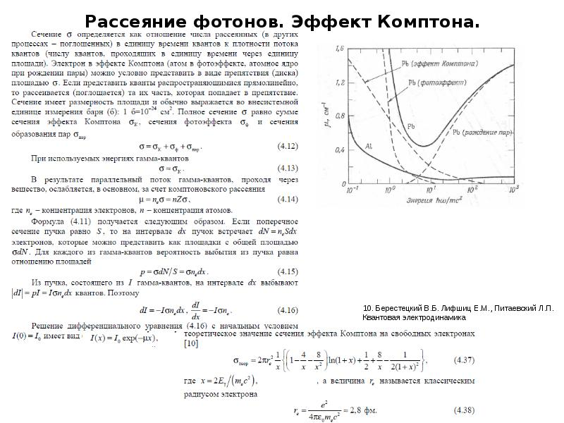 Рассеяние фотонов. Эффект Комптона.