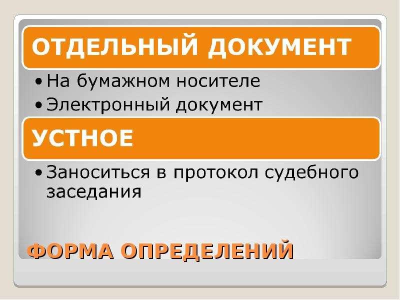 ФОРМА ОПРЕДЕЛЕНИЙ