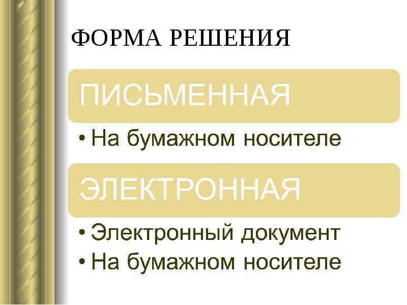 ФОРМА РЕШЕНИЯ