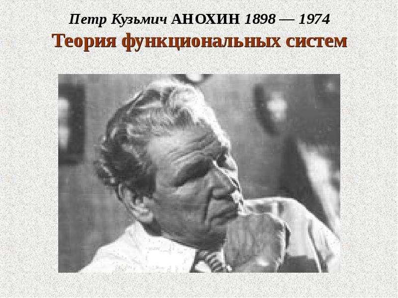 Петр Кузьмич АНОХИН 1898 — 1974 Теория функциональных систем