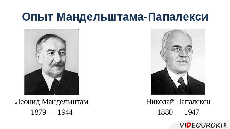 Опыт Мандельштама-Папалекси Леонид Мандельштам 1879 — 1944