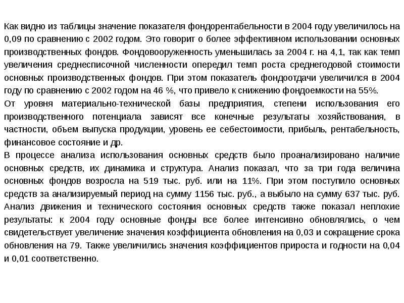 Экономический анализ деятельности предприятия (организации), слайд 23