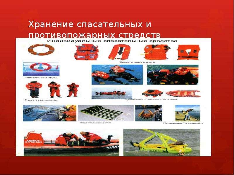 Презентация Хранение спасательных и противопожарных стредств