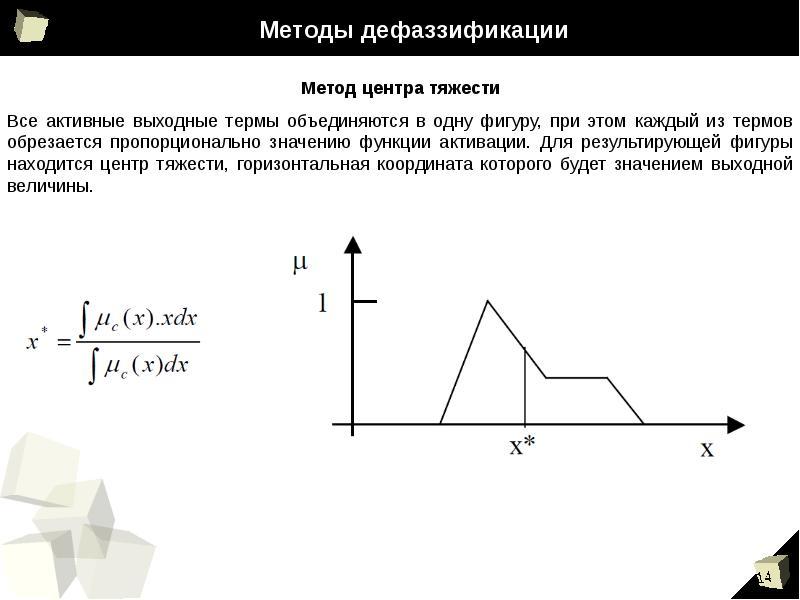 Методы дефаззификации