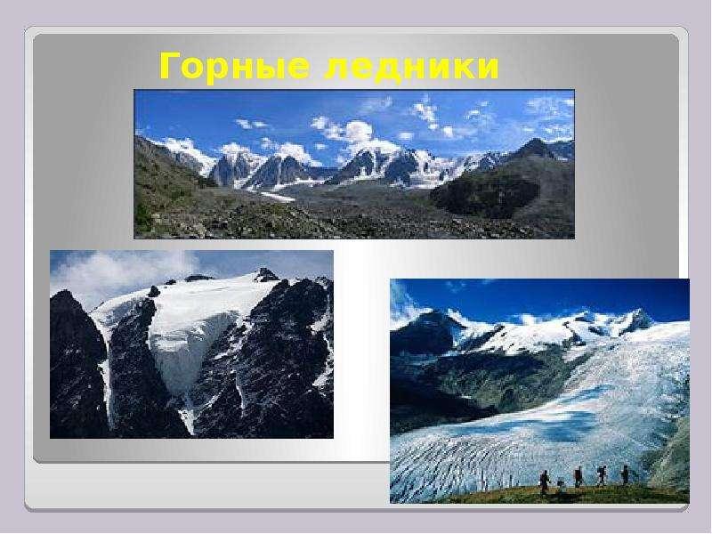 Горные ледники