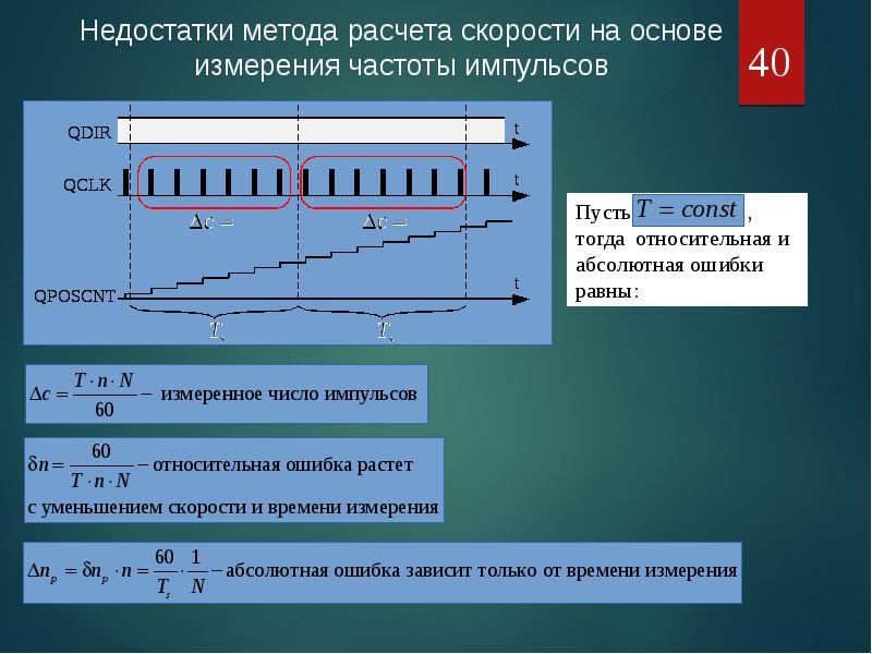Оценка положения и скорости электропривода средствами МК, рис. 40