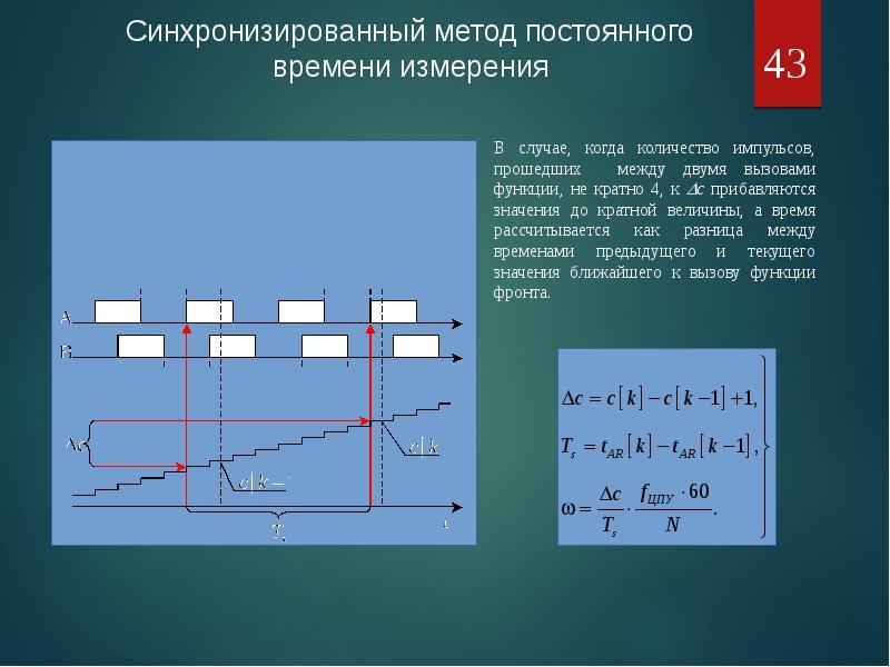 Оценка положения и скорости электропривода средствами МК, рис. 43