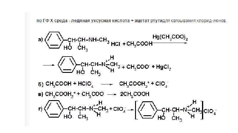 Идентификация эфедрина гидрохлорида и дэфедрина, слайд 9