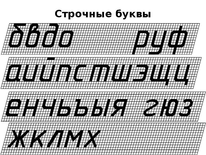 Строчные буквы