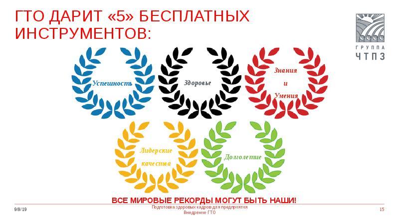 ГТО ДАРИТ «5» бесплатных инструментов: Успешность
