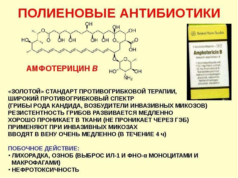 Антибиотики. Классификация антибиотиков по механизму действия, слайд 7