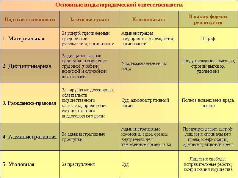 Правонарушения и их виды Юридическая ответственность, слайд 19