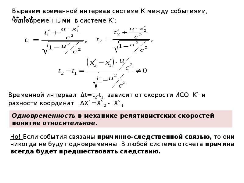 Элементы специальной теории относительности (СТО), слайд 15
