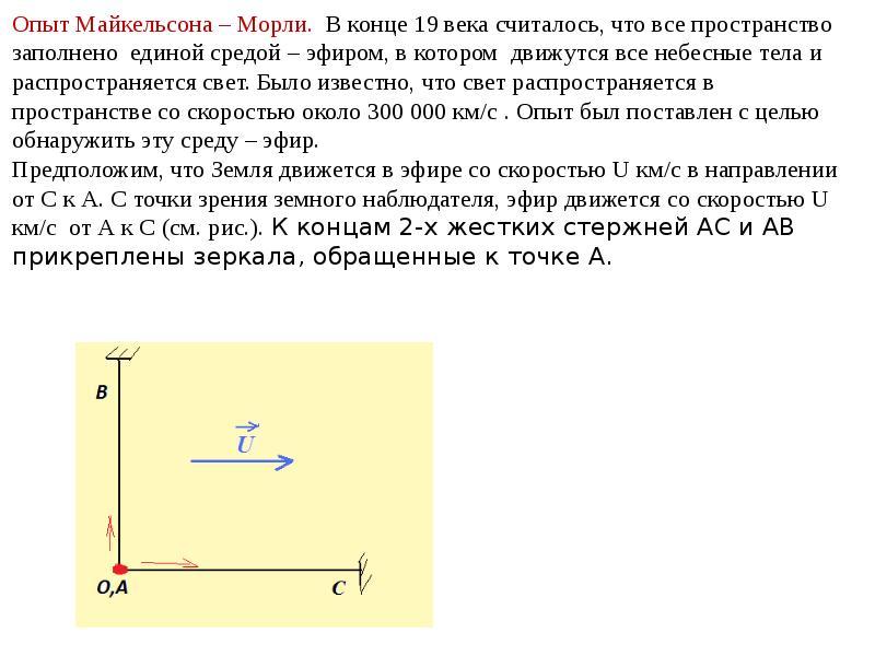 Элементы специальной теории относительности (СТО), слайд 7