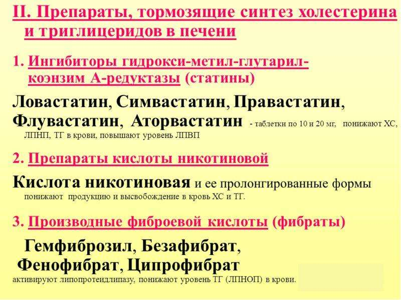 . Коронаролитические, гипохолестеринемические, слайд 17