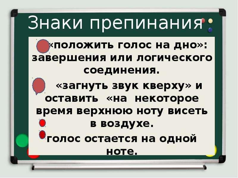 Знаки препинания «положить голос на дно»: завершения или логического соединения. «загнуть звук кверх