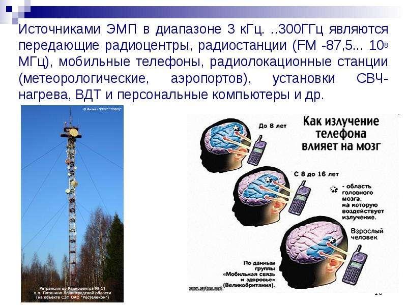 Источниками ЭМП в диапазоне 3 кГц. . . 300ГГц являются передающие радиоцентры, радиостанции (FM -87