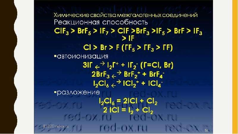 Галогены. Межгалогенные соединения, рис. 11