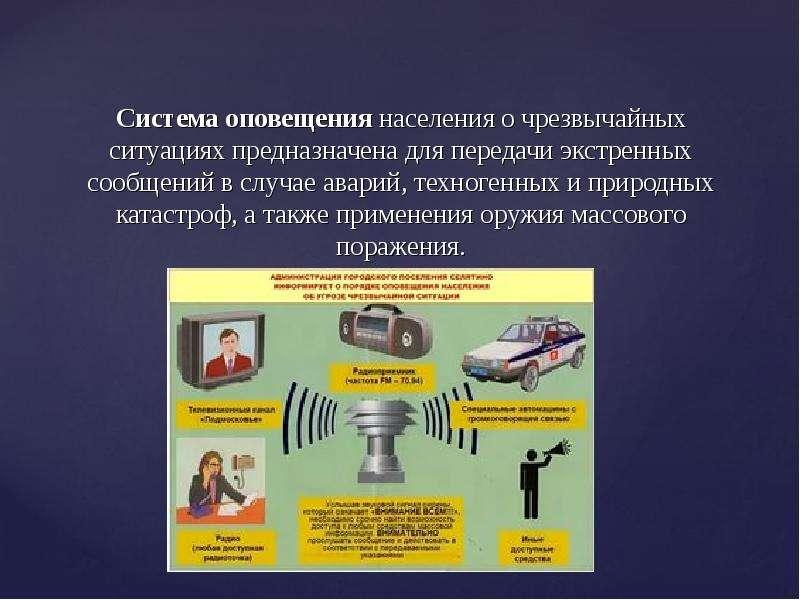 Система оповещения населения о чрезвычайных ситуациях предназначена для передачи экстренных сообщени