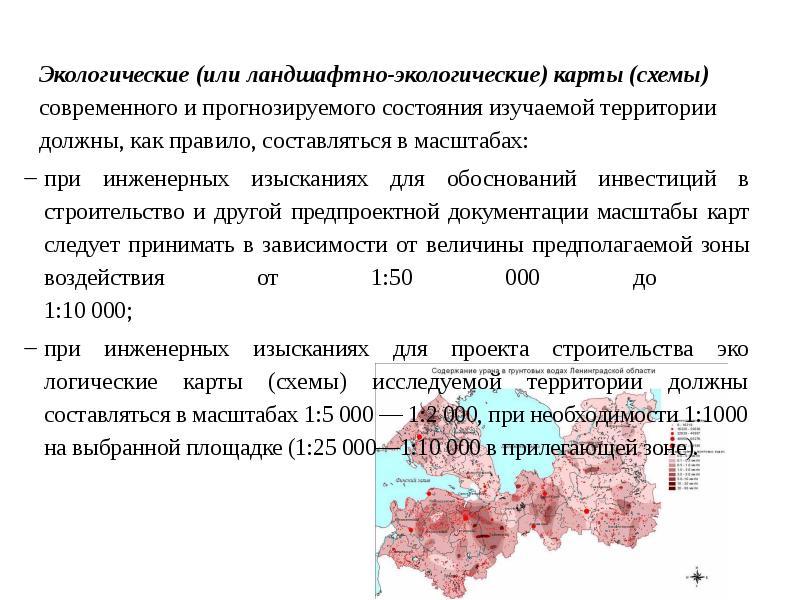 Экологические (или ландшафтно-экологические) карты (схемы) современного и прогнозируемого состояния