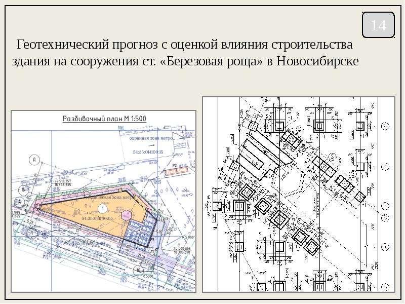 Геотехнический прогноз с оценкой влияния строительства здания на сооружения ст. «Березовая роща» в Н
