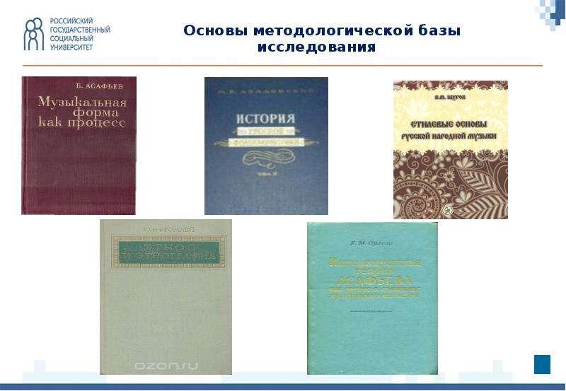 Основы методологической базы исследования Основы методологической базы исследования