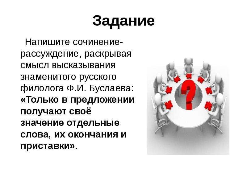 Задание Напишите сочинение-рассуждение, раскрывая смысл высказывания знаменитого русского филолога Ф