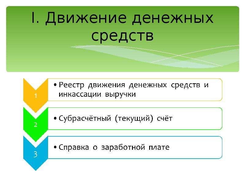 I. Движение денежных средств