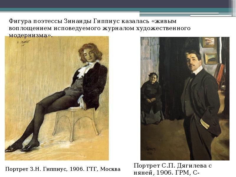Портрет З. Н. Гиппиус, 1906. ГТГ, Москва