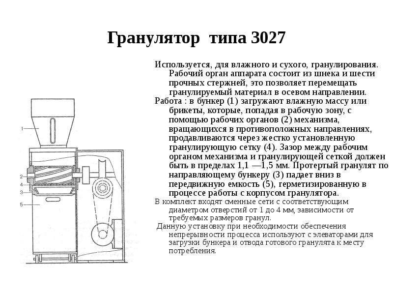 Гранулятор типа 3027 Используется, для влажного и сухого, гранулирования. Рабочий орган аппарата сос