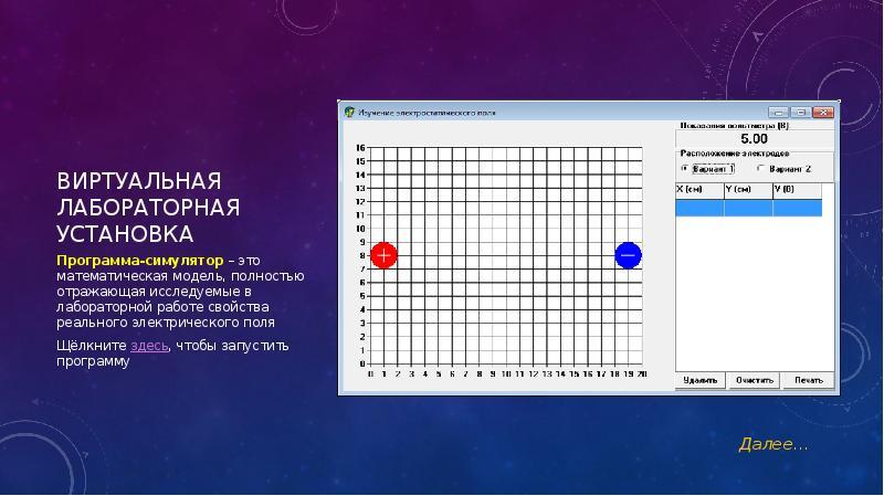 Виртуальная лабораторная установка Программа-симулятор – это математическая модель, полностью отража