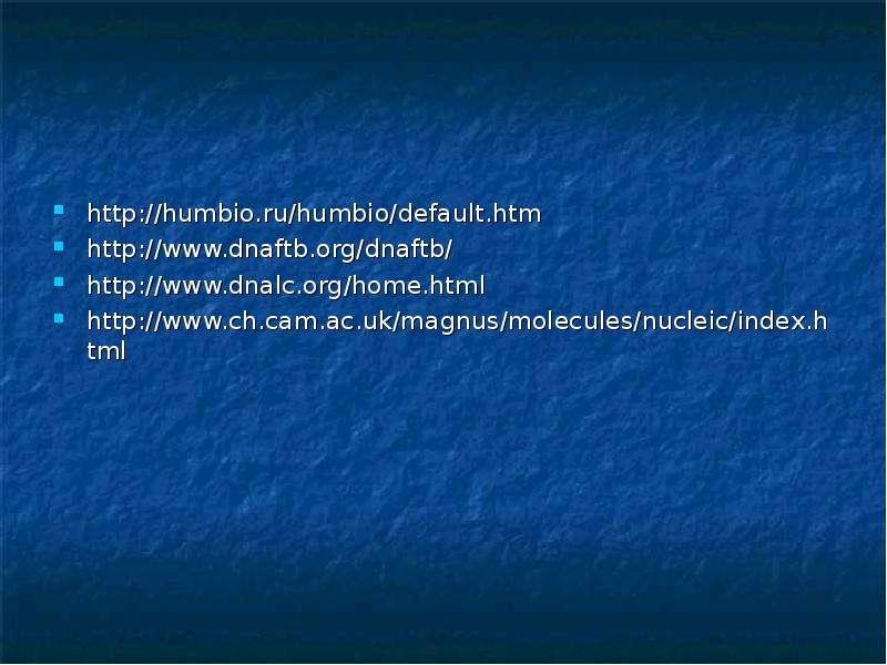 Ферменты гидролиза и биосинтеза нуклеиновых кислот, слайд 21