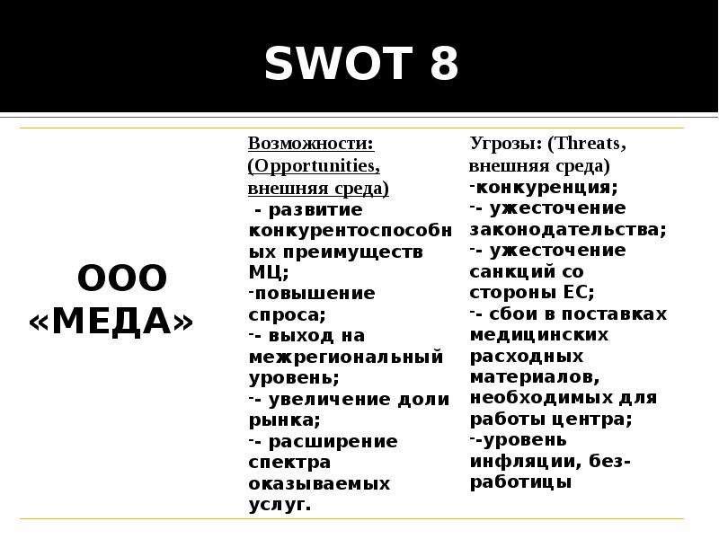 SWOT 8