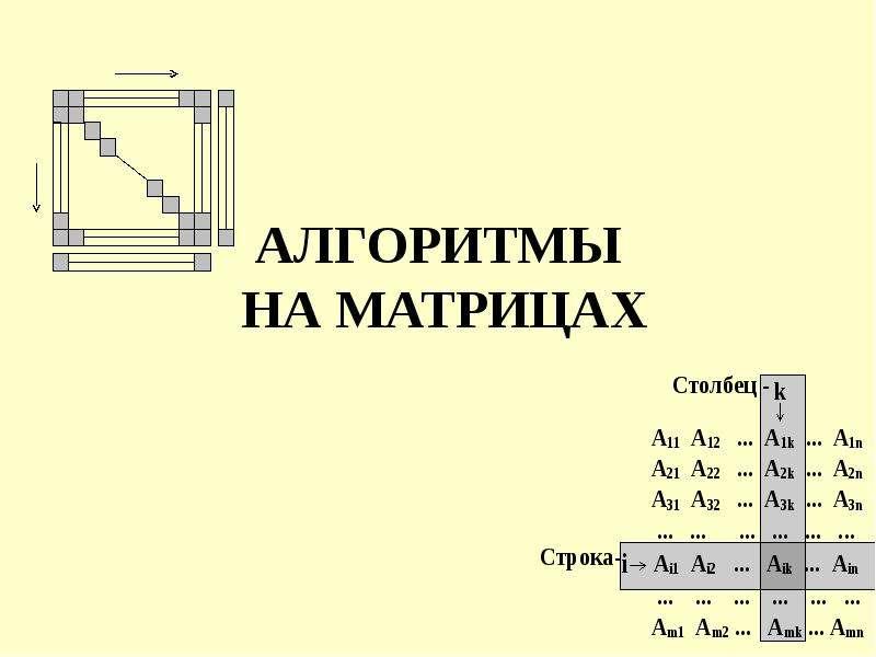 Алгоритмы на матрицах