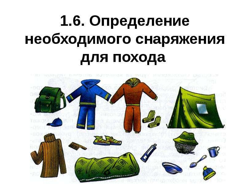 Презентация Определение необходимого снаряжения для похода