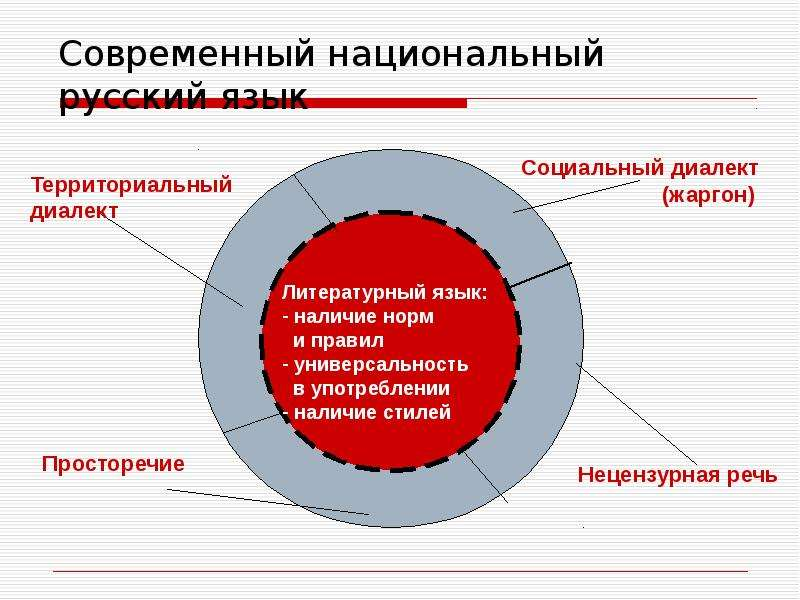 Современный национальный русский язык