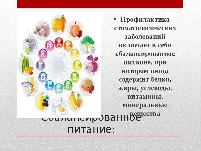 Сбалансированное питание: .