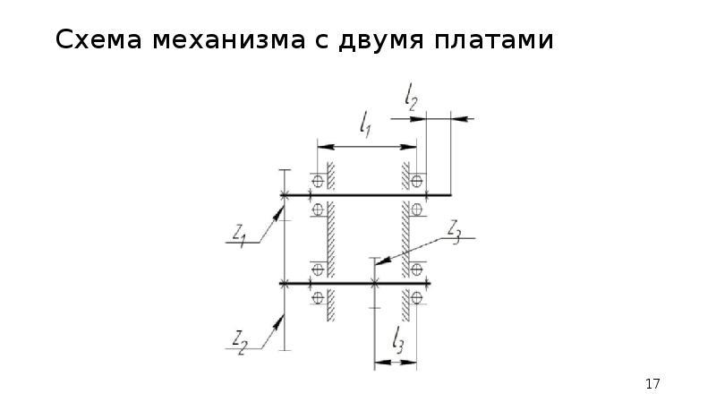 Схема механизма с двумя платами