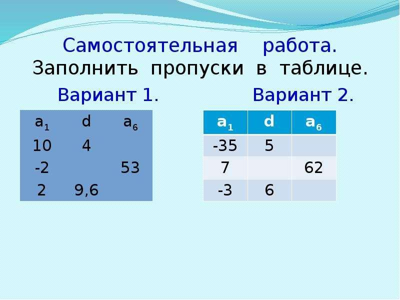 Характеристическое свойство арифметической прогрессии, слайд 5