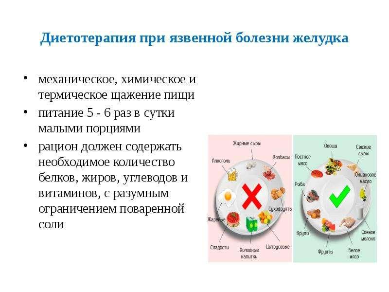 Диетотерапия при язвенной болезни желудка механическое, химическое и термическое щажение пищи питани
