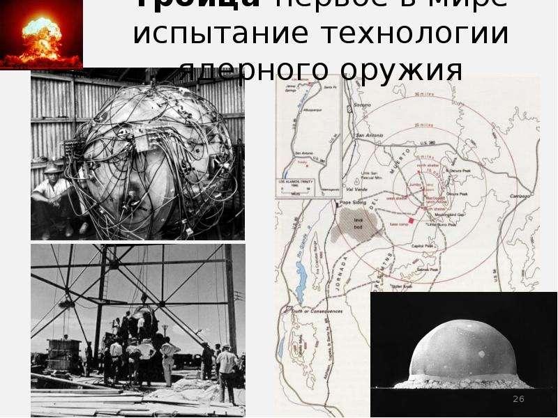 Троица-первое в мире испытание технологии ядерного оружия