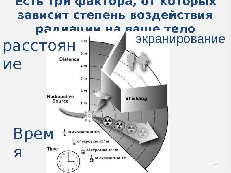 Есть три фактора, от которых зависит степень воздействия радиации на ваше тело