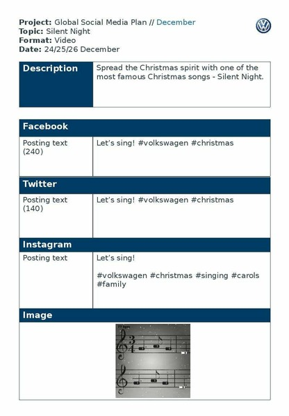 Project: Global Social Media Plan