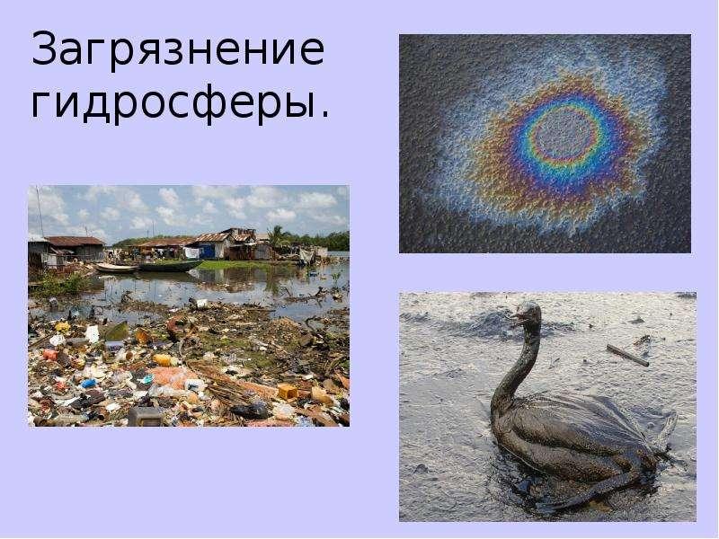 Загрязнение гидросферы.