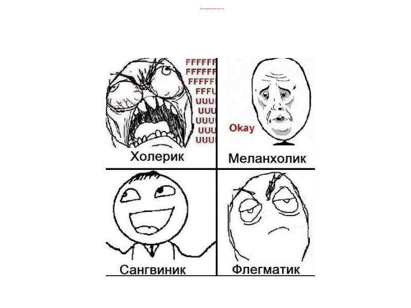 Типы нервной деятельности Темпераменты