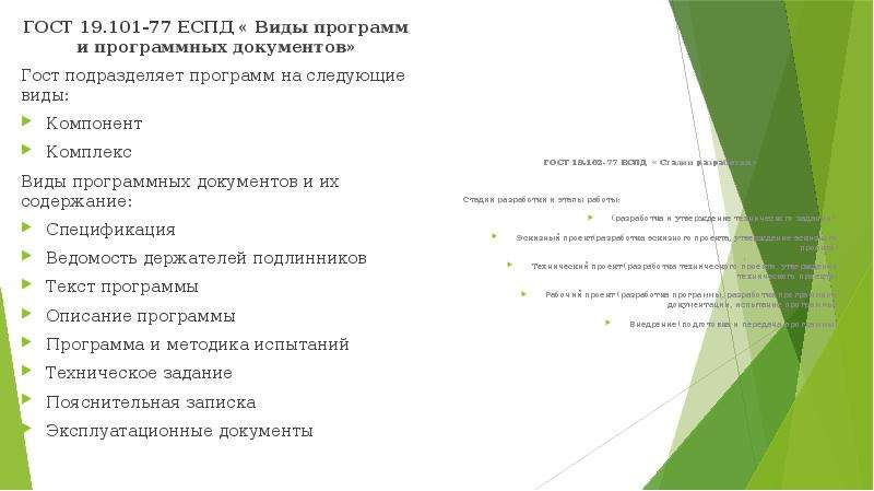 ГОСТ 19. 101-77 ЕСПД « Виды программ и программных документов» ГОСТ 19. 101-77 ЕСПД « Виды программ