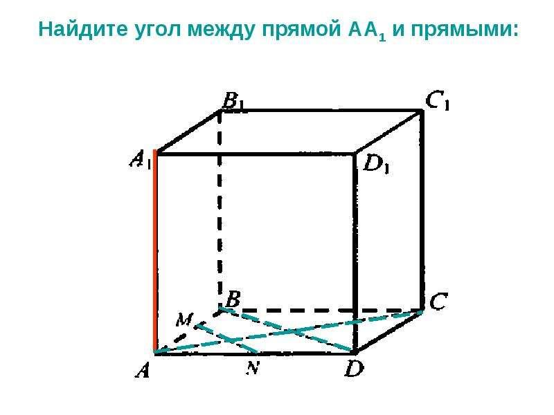 Решение задач по теме «Перпендикулярные прямые в пространстве», слайд 8